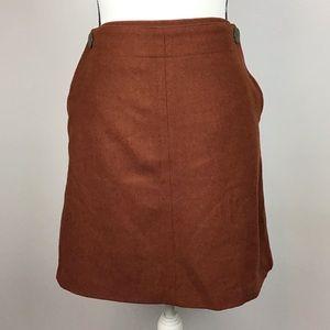 Cynthia Rowley Burnt Orange Skirt Wool Blend